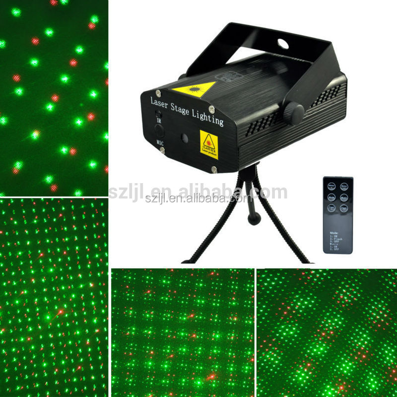 Auto/Sound Activated Stage Laser Lights 8 Patterns LED Party Projector Spotlight with wireless remote for Disco DJ Club