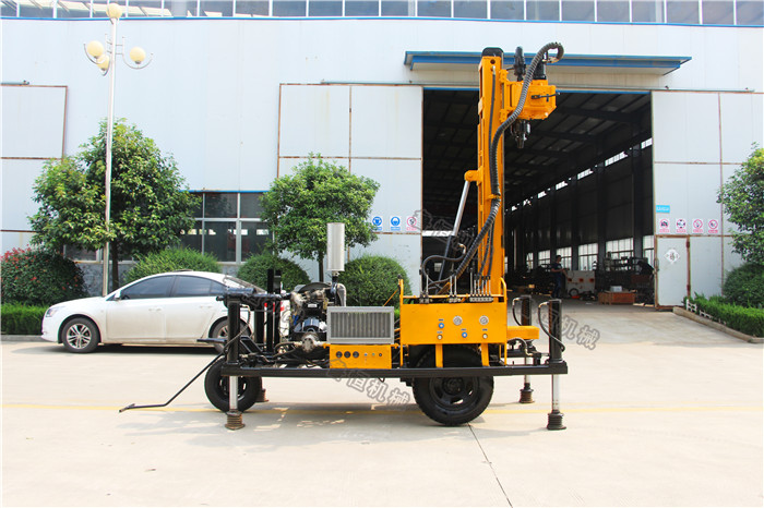 truck mounted water well drilling rig and Hydraulic Rock Drilling