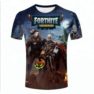Wholesale sublimation 3d printed fortnite t shirt