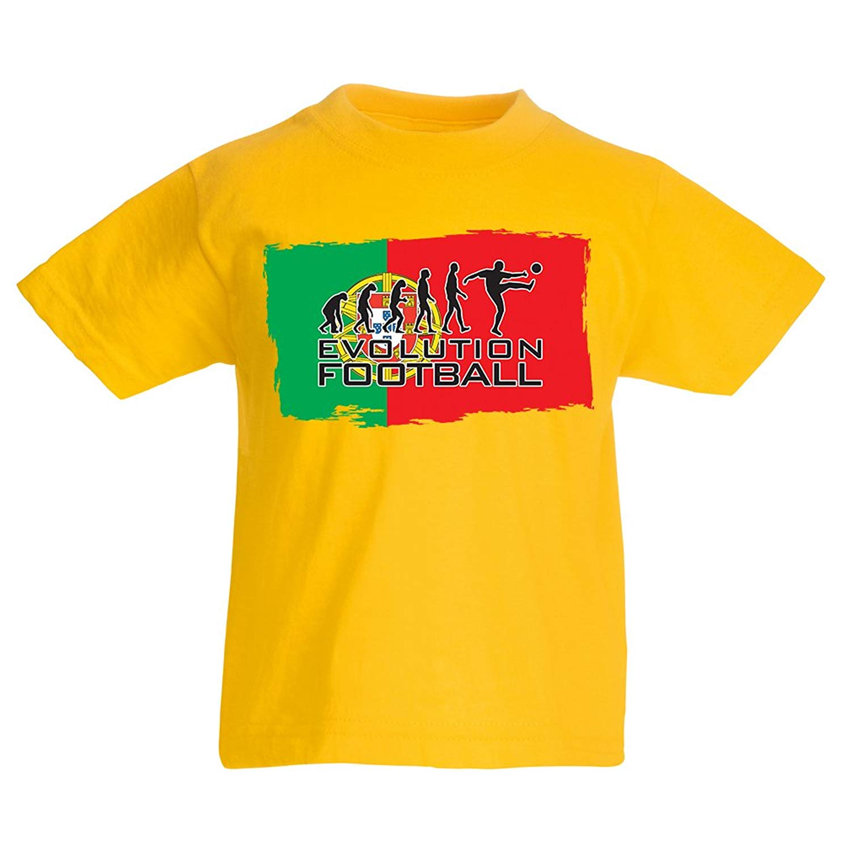 350f85ec61d Get Quotations · Kids Boys/Girls T-Shirt The Portugal National Football  Team Evolution, 2018 World