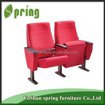 Worldwide meeting room chairs design wooden chair with writing pad AW-17
