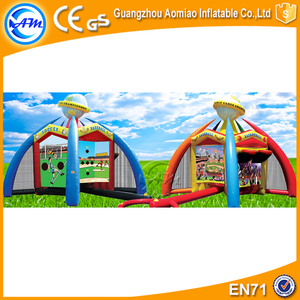 Inflatable World Sport Game Basketball Soccer Goal Arena inflatable Interactive Bounce Games