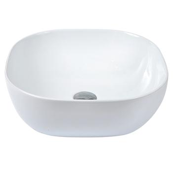 Ivory Color Rectangle Bathroom Ceramic Wash Basin, View Bathroom ...