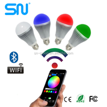 Music+Group+Timer 9w WiFi LED Bulb,RGBW smart led light bulb with Android IOS stable App