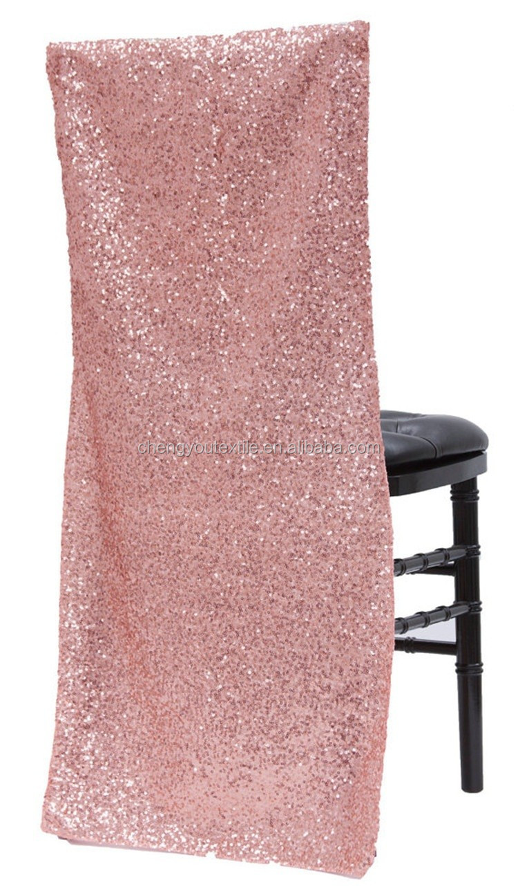 Black Sequin Chair Cover Wedding Decoration Chair Back