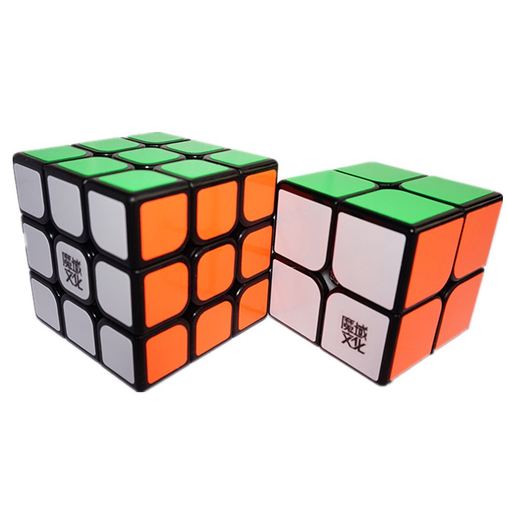 CuberSpeed Speedcubing Advanced Bundle Moyu Tangpo 2x2 & Aolong V2 3X3 Magic cube Black Puzzle