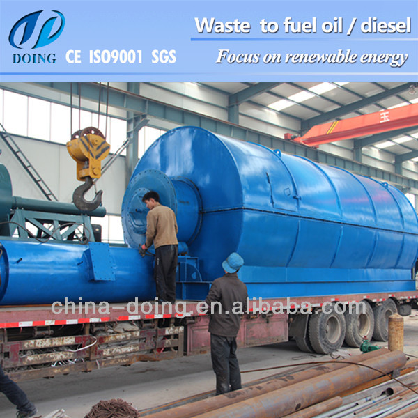 Q345R material of pyrolysis machine waste tyre recycling plant for sale