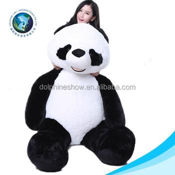 grande taille 300 cm en peluche ours en peluche mignon doux en peluche panda ty peluche panda. Black Bedroom Furniture Sets. Home Design Ideas