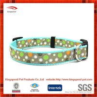 Hot sales 100% soft Nylon webbing broken flower dog collars
