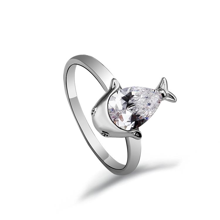 7b54d3d9a269 Fantástico diseño tiburón de oro blanco anillo de compromiso de Guangdong  fabricante ...