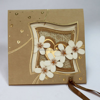Good Quality Christian Handmade Flowers Wedding Invitation cards