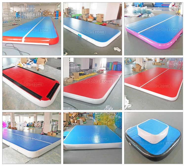gymnastics inflatable tumble track air bouncy mat for sale