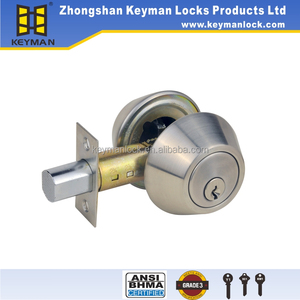 Front Deadbolt Lock set Double Cylinder Chrome