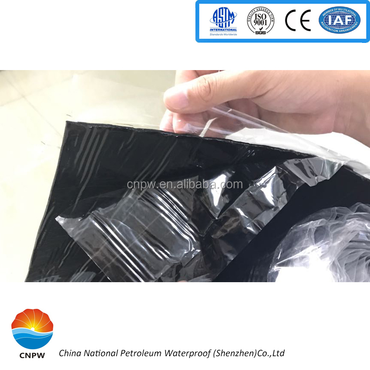 Anti weather/corrosion modified asphalt adhesive waterproofing <strong>membrane</strong>