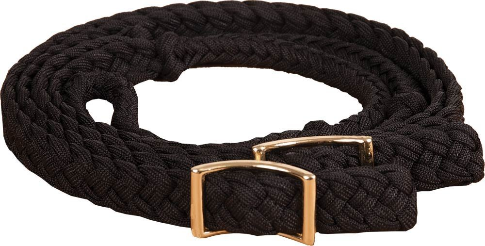 New Braided Barrel Racing Reins - Flat w/easy Grip Knots 8ft by Southwestern Equine