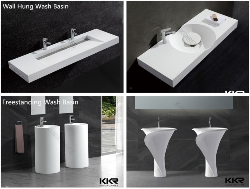 Modern Pedestal European Bathroom Freestanding Sink