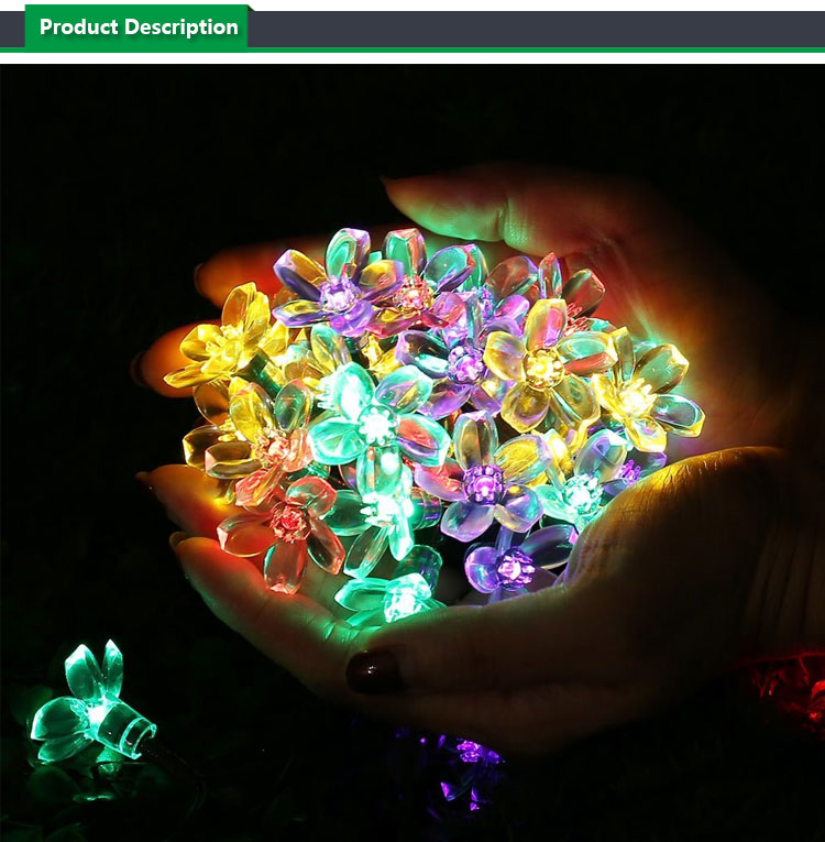 Solar Christmas String Lights,Fairy Blossom Flower Garden Lights for Outdoor, Home, Lawn, Wedding, Patio, Party and Holiday