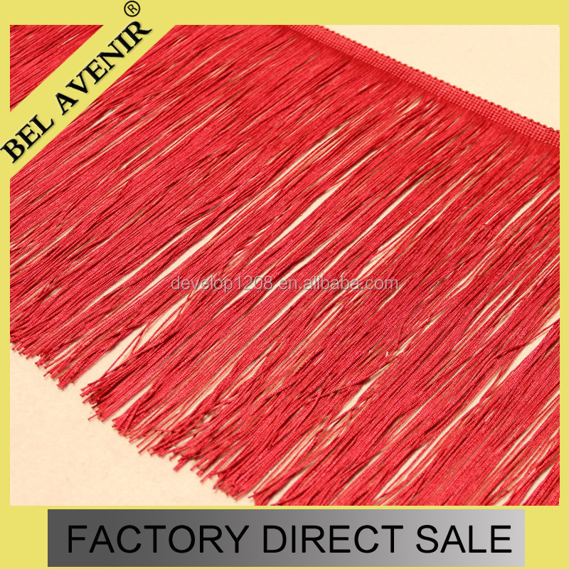 Wholesale Red Trimming Tassel bullion Fringe Lace For Curtain