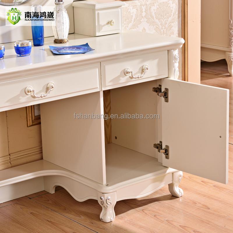 modernen europ ischen pastoralen stil wei lackiert holz mdf schlafzimmer schminktisch. Black Bedroom Furniture Sets. Home Design Ideas