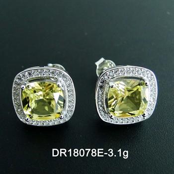 d95eef6b2 925 Sterling Silver Color Change Stone Jewelry CZ Halo Diamond Alexandrite  Stud Earrings