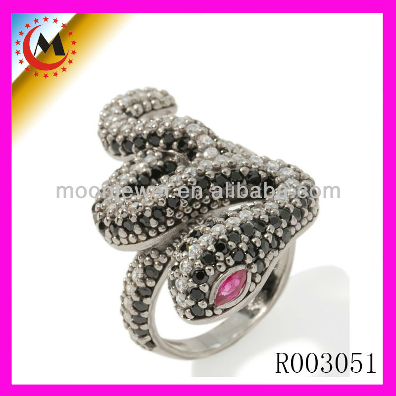WHOLESALE 925 STERLING SILVER RINGS ,DIAMOND PAVE SNAKE RING JEWELRY,SNAKE RING