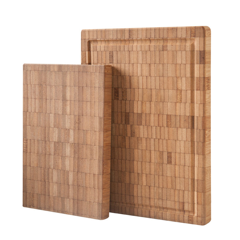 BAMBKIN bamboo rectangle chopping blocks cutting board end <strong>grain</strong>