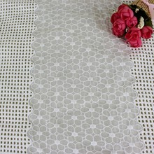 2017 ladies organza flower embroidery lace fabric
