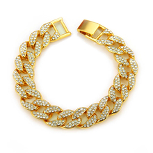 DAICY 쿨 합금 hiphop 풀 돌 diamond gold plated bling bling 아이스티 out 쿠바 link bracelet 대 한 men jewelry