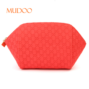 Red Zipper Pouch Cosmetic Handy bag Makeup Organizer with Zipper
