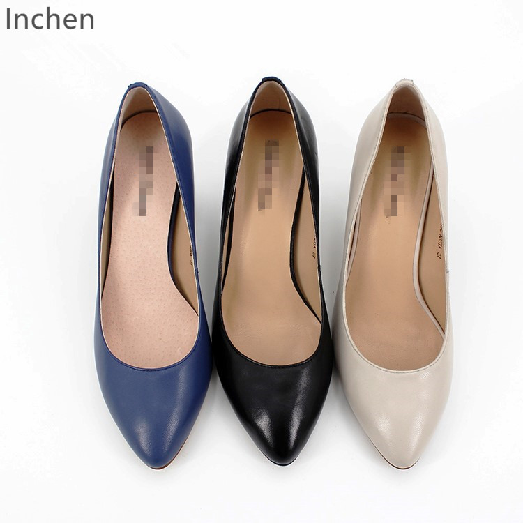 nude women thick shoes pumps shoes rainbow pointed multicolor heel Leather high Genuine sheepskin heel toe qS1wPP