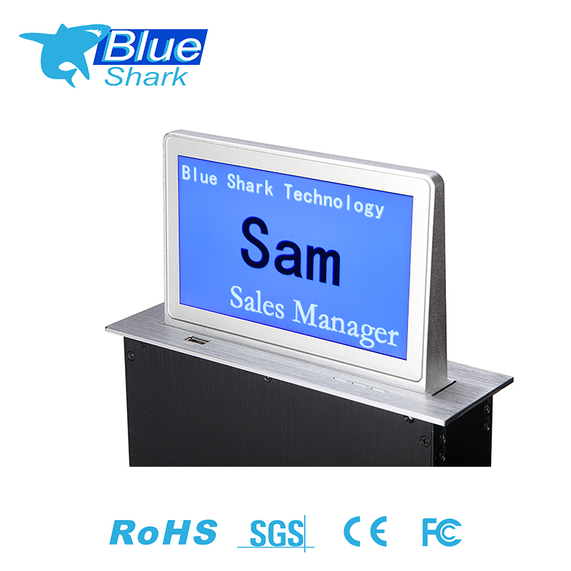 Custom configuration double sided electronic table card pop up motorized lcd tv monitor lift
