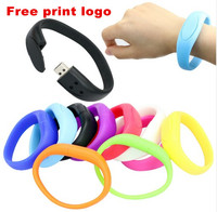 lucky silicone bracelet pendrive 8GB 16GB 32GB Usb Flash Drive Case Pendriver birthday gift memory stick U disk 9 colors