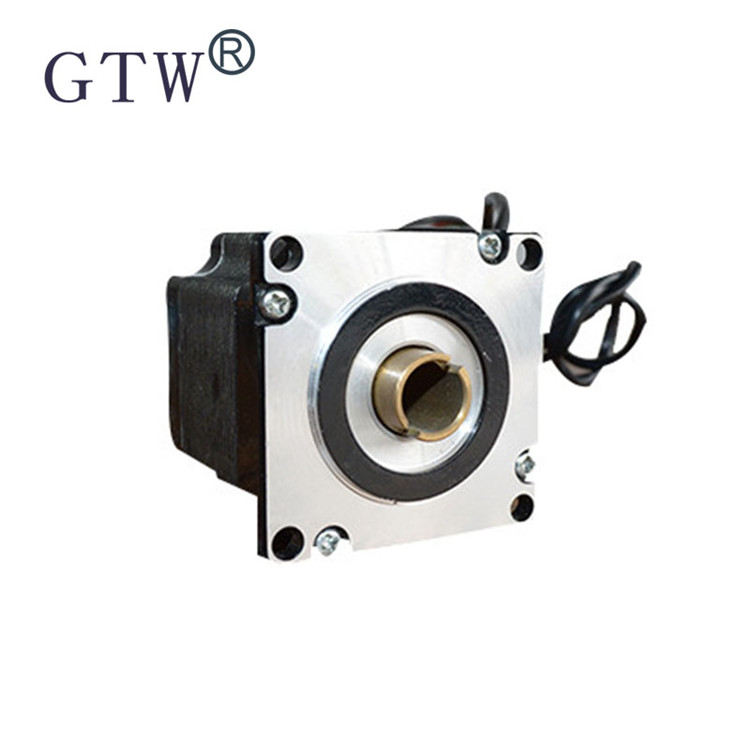 Double hollow shaft stepper motor drive