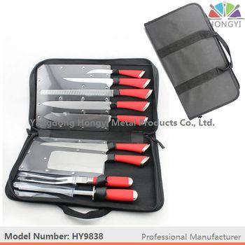 9pcs chef knife bag kitchen knife set - Chef Knives Set
