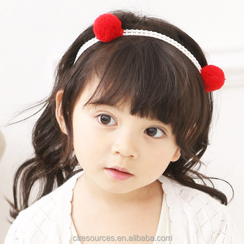 Fashion Kids Hair Accessories Headband Simples Design Ball Fancy baby girl  headband Wholesales 04588d1cf28