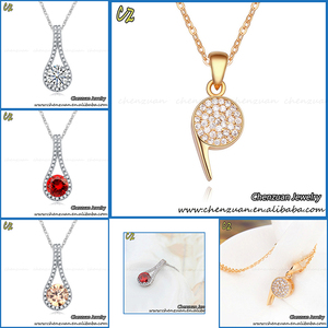 New fashion 2017 micro pave crystal bead necklace designs Whistle Pendant Necklace for men
