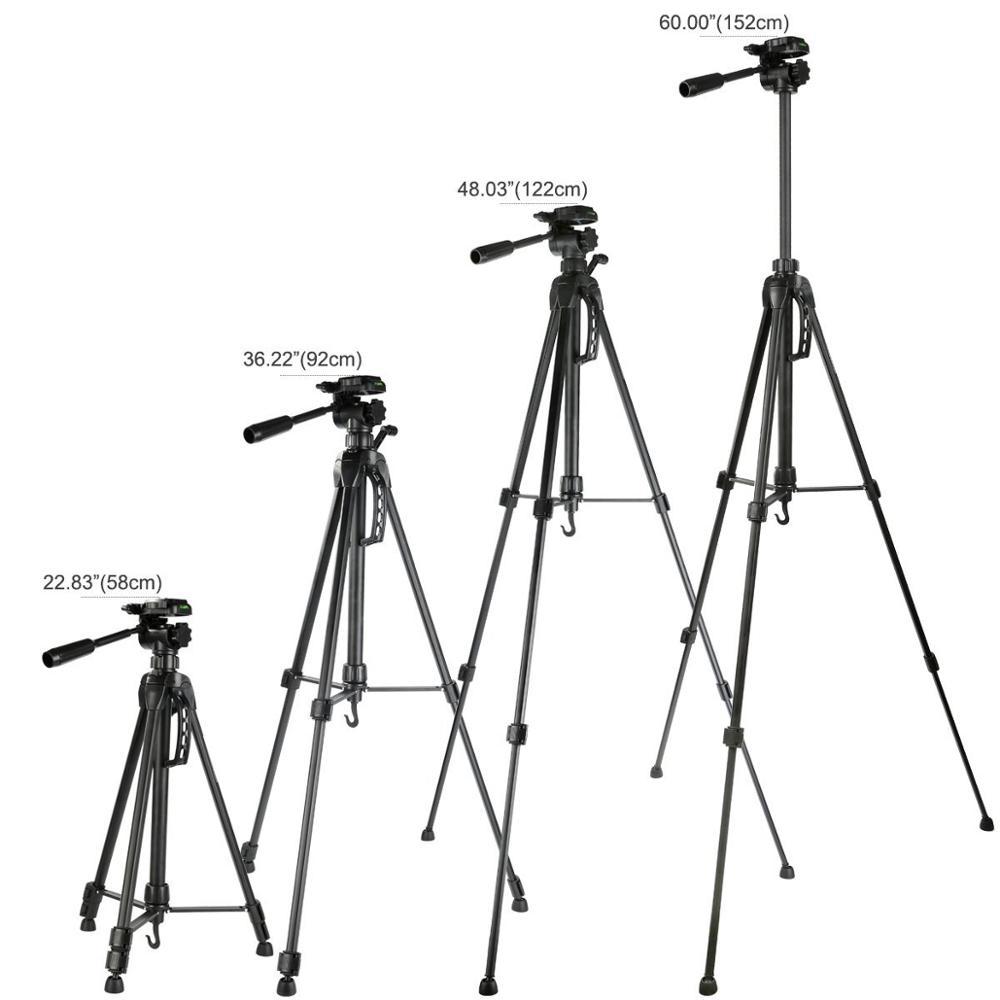 K/&F concepto 60/'/'//152cm compacto ligero trípode de viaje.. Trípode de cámara