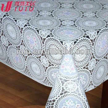 Elegant Lace Tablecloth, Lace Table Overlay