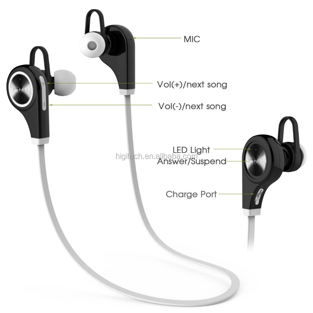 Q9 Csr 4.0 Bluetooth Earphones For Ipod Mini Lightweight Stereo ...
