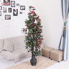 Yiwu manufacturer wholesale indoor decoration colorful artificial live ficus tree