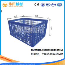 Large Size Milk Crates Used Plastic Crates Solid Shipping Box for sale