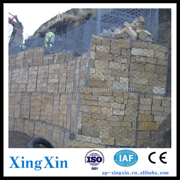 Anping Gabion box/rock basket retaining wall, PVC coated/ galvanized/ Galfan gabion basket/cages for sale (R - 012)