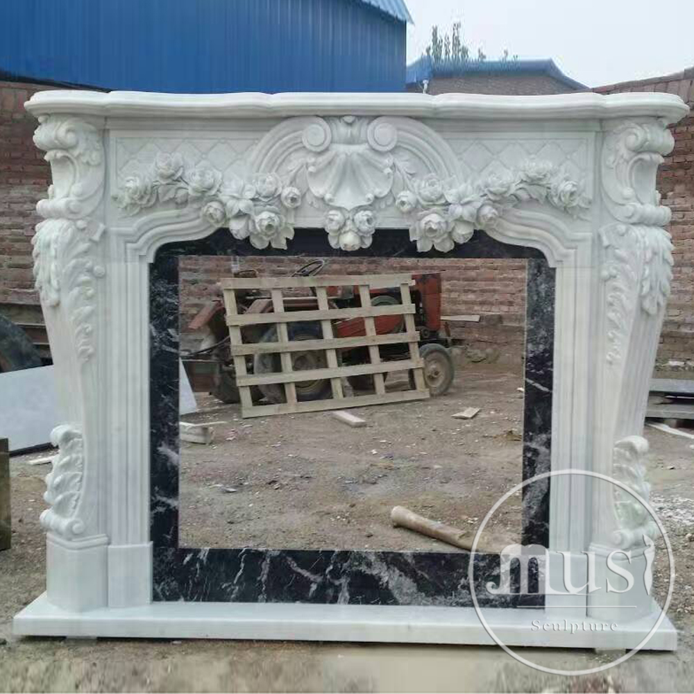 Modern Clean Lines Marble White Stone Fireplace View Musi Product Details From I Import And Export Trading Co