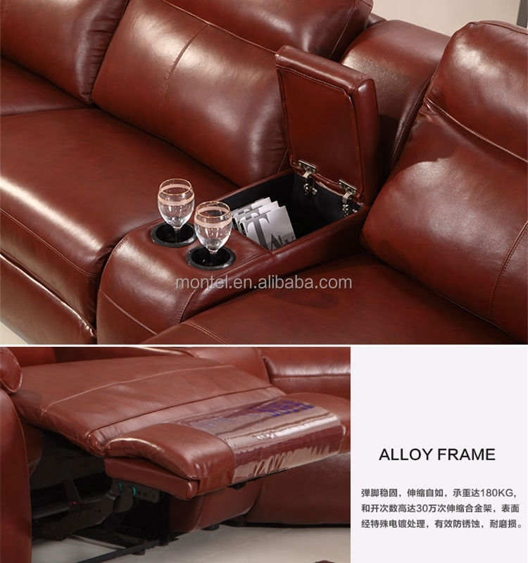 Large Sizes U-shaped Recliner Sofa Hot Sale In India