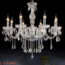 8 lights clear glass chandeliers lights crystal indoor lighting 85397
