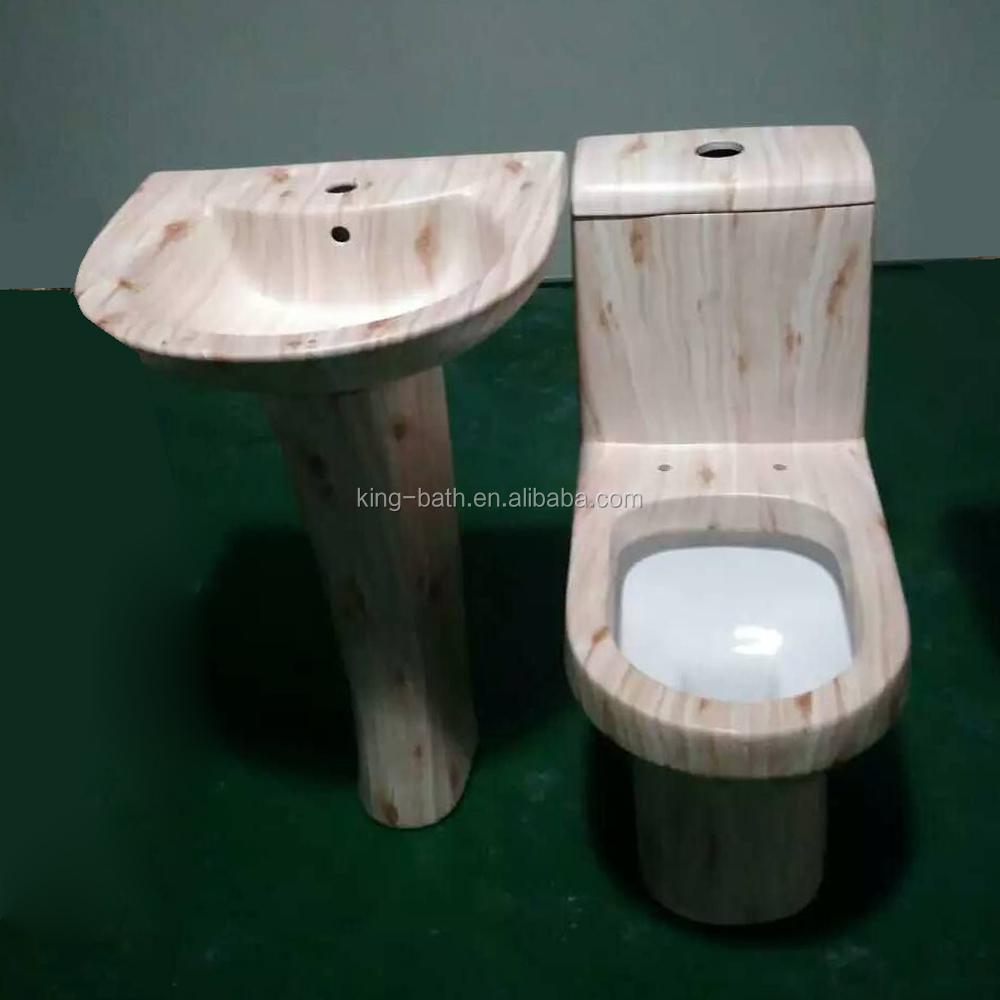 Marmor badezimmer design wc mit becken set mosaic gold keramik wc keramik mosaik gold