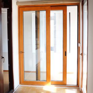 Wood Frame Sliding Door For Kitchen Entrance