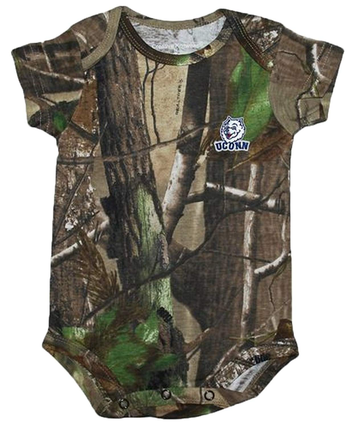 4f0b7f4003bef Get Quotations · Creative Knitwear Uconn Connecticut Huskies NCAA College Newborn  Baby Realtree Camo Camouflage Creeper