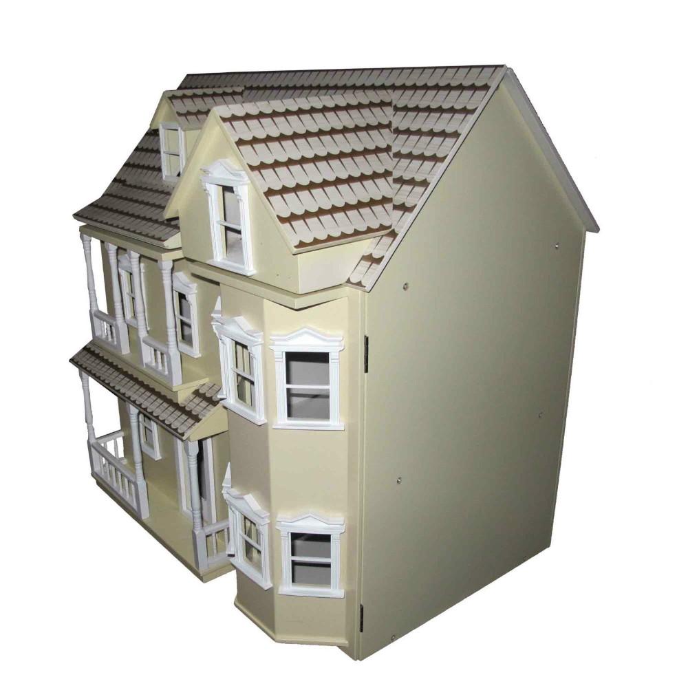 Baru Kayu Yang Indah Rumah Boneka Kuning Victoria Doll House 3 Tingkat  Mainan 5d264b7897
