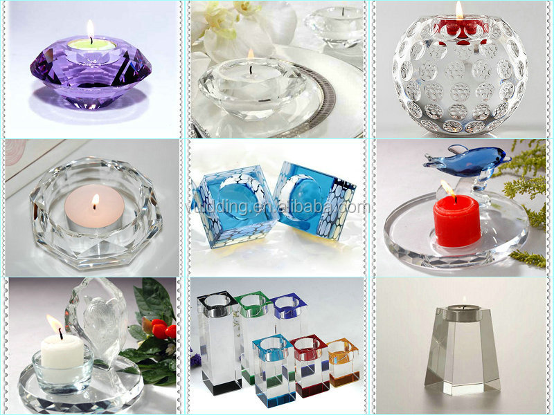 Cube Top And Ball Glass Candleholder For Wedding Favor
